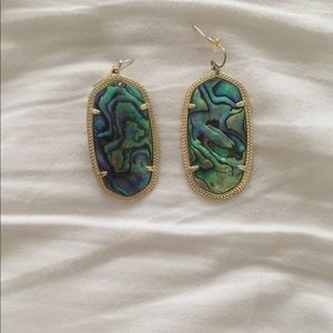 Kendra Scott abalone Danielle earrings